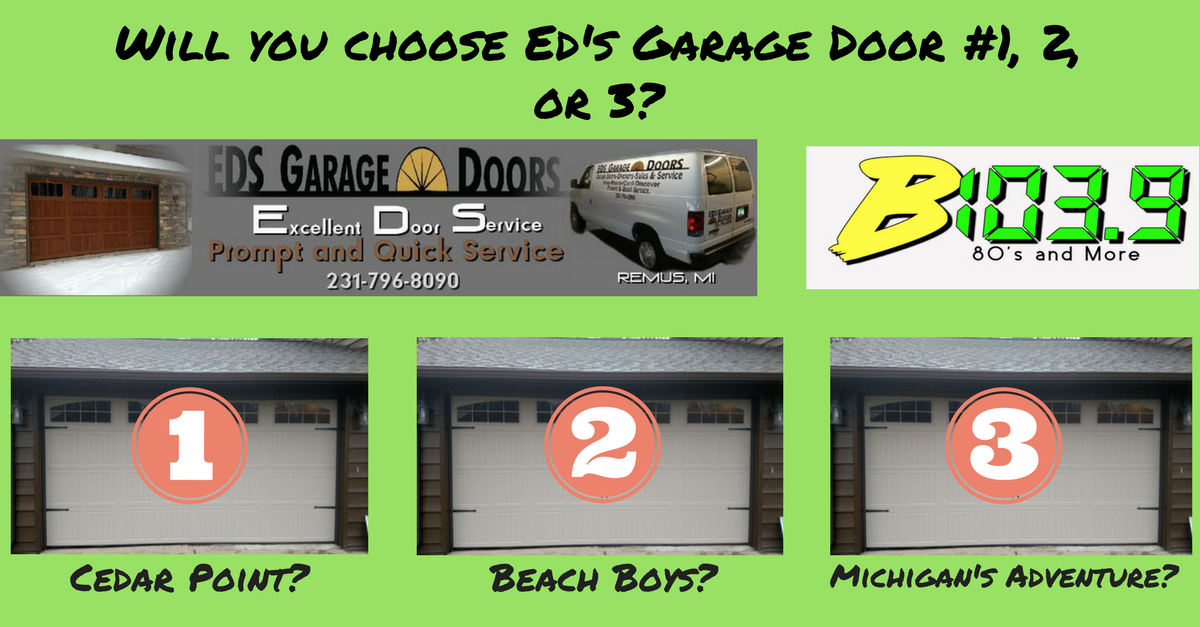 Ed's Garage Doors…1, 2, or 3?